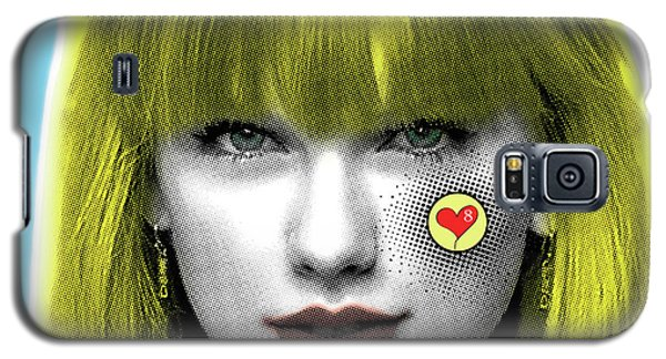 Taylor Swift, Pop Art, Portrait, Contemporary Art On Canvas, Famous Celebrities Galaxy S5 Case by Dr Eight Love
