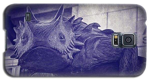 Tcu Horned Frog Purple Galaxy S5 Case by Joan Carroll