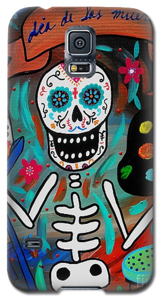 Te Amo Painter Dia De Los Muertos Galaxy S5 Case by Pristine Cartera Turkus
