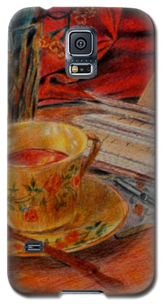 Tea And Diary Galaxy S5 Case by Quwatha Valentine