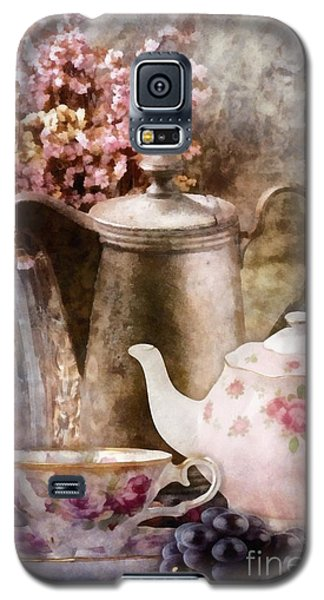 Galaxy S5 Case featuring the painting Tea And Grapes by Mo T