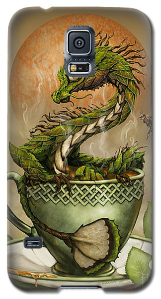 Galaxy S5 Case featuring the digital art Tea Dragon by Stanley Morrison