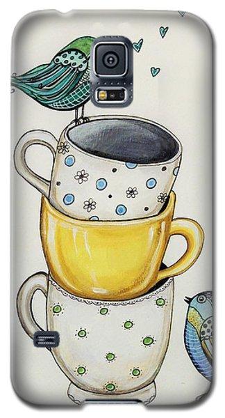 Tea Time Friends Galaxy S5 Case by Elizabeth Robinette Tyndall