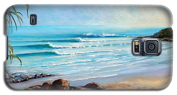 Galaxy S5 Case featuring the painting Tea Tree Bay Noosa Heads Australia by Chris Hobel