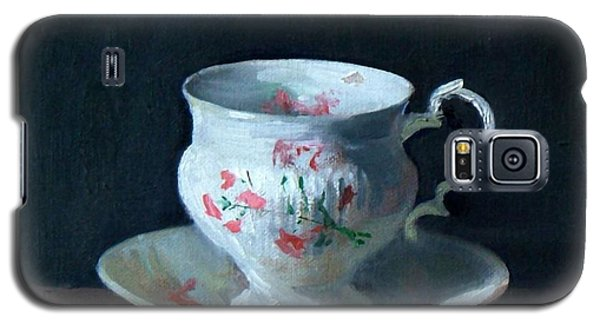 Teacup And Saucer On Dark Background Galaxy S5 Case