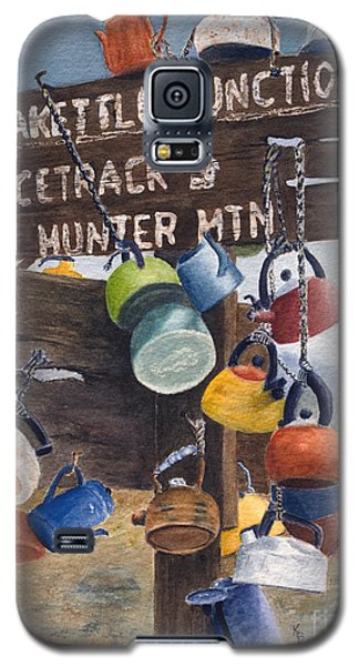 Galaxy S5 Case featuring the painting Teakettle Junction by Karen Fleschler