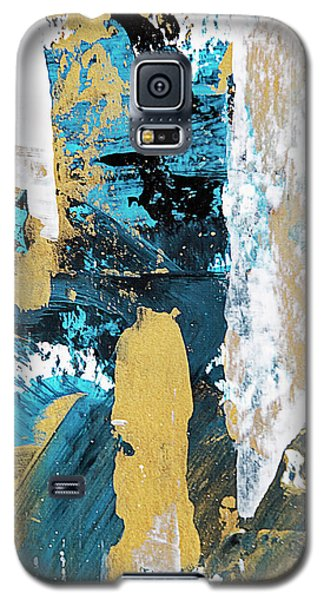 Galaxy S5 Case featuring the painting Teal Abstract by Christina Rollo