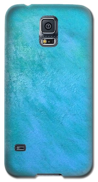 Galaxy S5 Case featuring the painting Teal by Antonio Romero