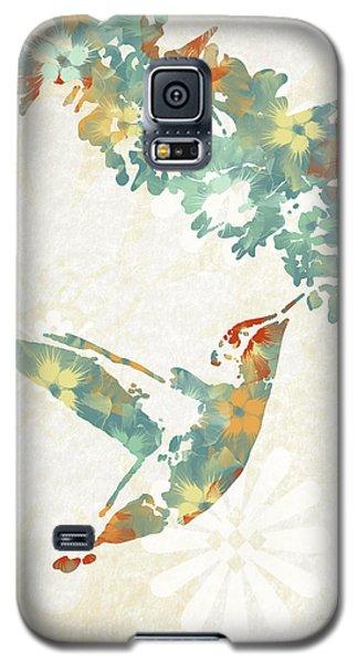 Floral Hummingbird Art Galaxy S5 Case