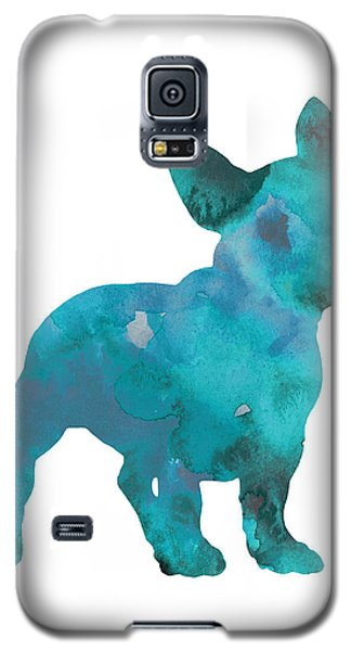 Teal Frenchie Abstract Painting Galaxy S5 Case