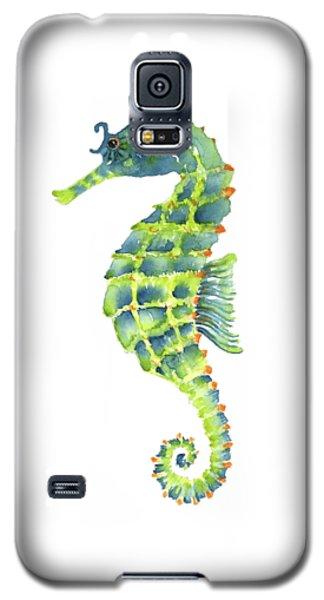 Teal Green Seahorse Galaxy S5 Case