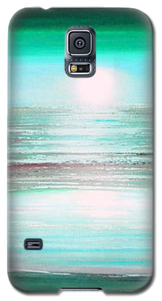 Teal Panoramic Sunset Galaxy S5 Case