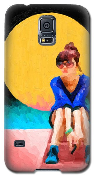 Galaxy S5 Case featuring the digital art Teal Sneakers by Serge Averbukh