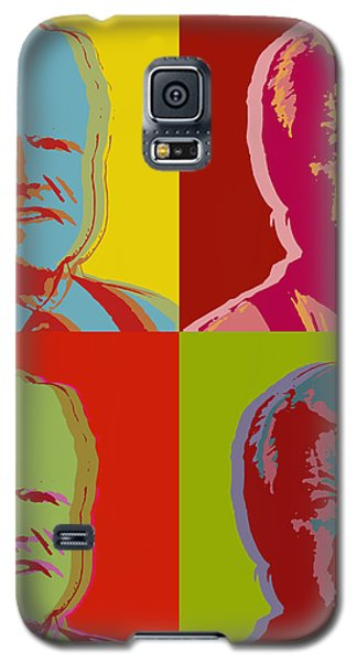 Galaxy S5 Case featuring the digital art Ted Kennedy by Jean luc Comperat