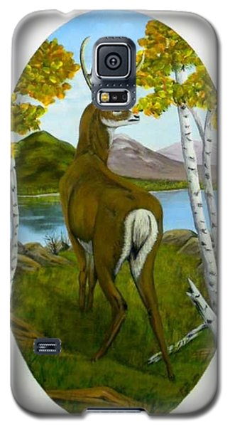Galaxy S5 Case featuring the painting Teddy's Deer by Sheri Keith