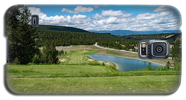 Galaxy S5 Case featuring the photograph Tee Box With As View by Darcy Michaelchuk