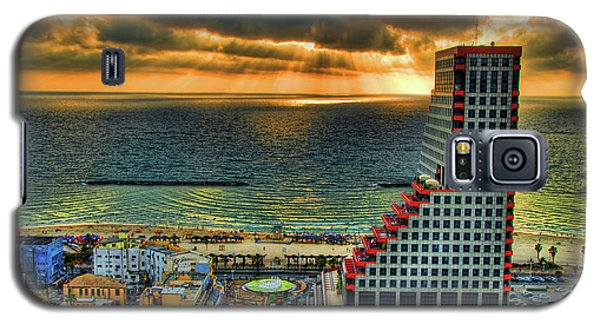 Galaxy S5 Case featuring the photograph Tel Aviv Lego by Ron Shoshani
