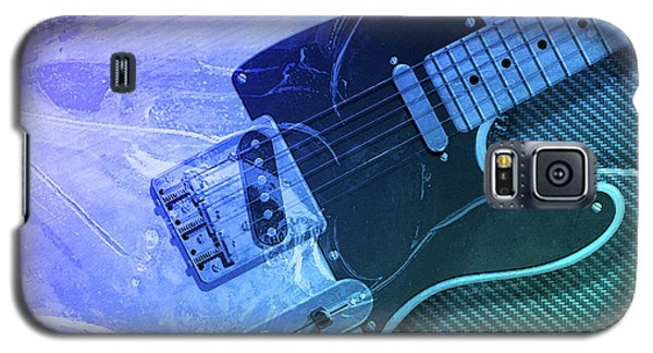 Galaxy S5 Case featuring the digital art Tele Blue by WB Johnston