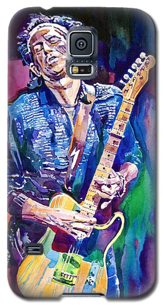 Music Galaxy S5 Case - Telecaster- Keith Richards by David Lloyd Glover