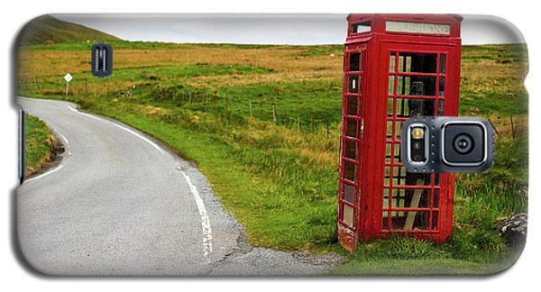 Galaxy S5 Case featuring the photograph Telephone Booth On Isle Of Skye by Davorin Mance