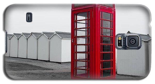 Telephone Box By The Sea I Galaxy S5 Case