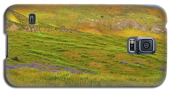 Galaxy S5 Case featuring the photograph Temblor Range Spring Color by Marc Crumpler