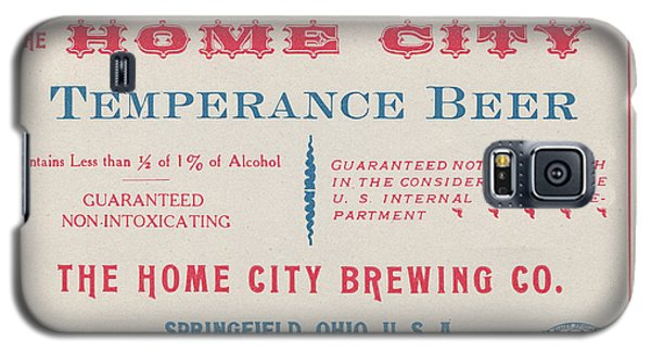 Galaxy S5 Case featuring the photograph Temperance Beer Label by Tom Mc Nemar