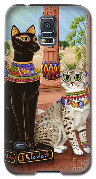 Temple Of Bastet - Bast Goddess Cat Galaxy S5 Case by Carrie Hawks