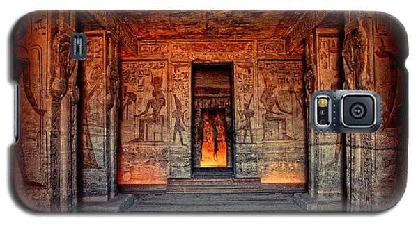 Temple Of Hathor And Nefertari Abu Simbel Galaxy S5 Case by Nigel Fletcher-Jones
