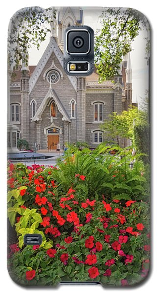 Temple Square Flowers Galaxy S5 Case