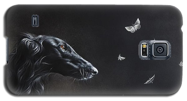 Galaxy S5 Case featuring the drawing Tender Is The Night by Elena Kolotusha