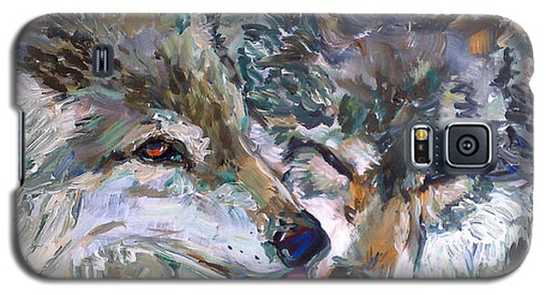 Galaxy S5 Case featuring the painting Tender Moments by Koro Arandia