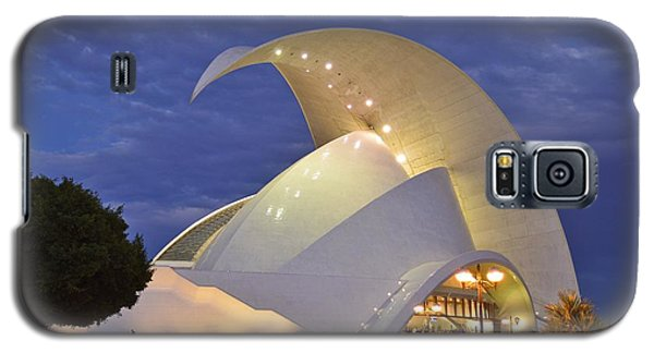 Galaxy S5 Case featuring the photograph Tenerife Auditorium At Dusk by Marek Stepan