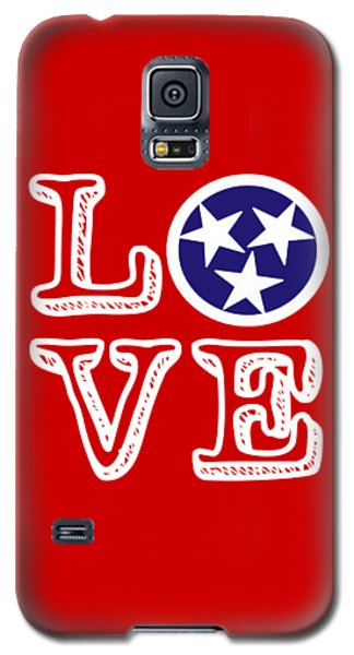 Galaxy S5 Case featuring the digital art Tennessee Flag Love by Heather Applegate