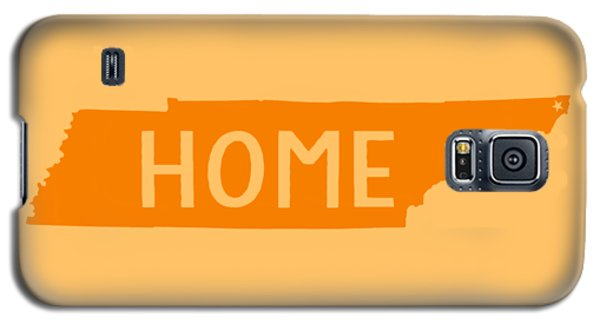 Galaxy S5 Case featuring the digital art Tennessee Home Orange by Heather Applegate