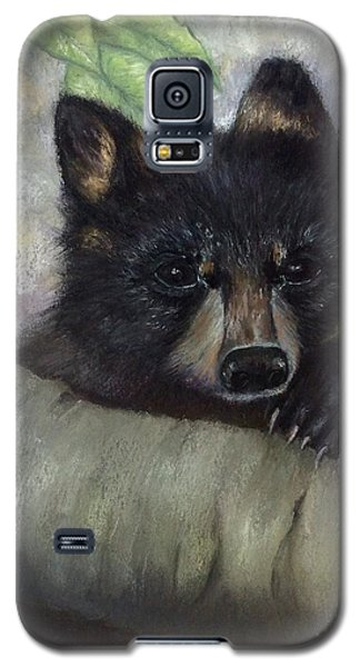 Galaxy S5 Case featuring the painting Tennessee Wildlife Black Bear by Annamarie Sidella-Felts