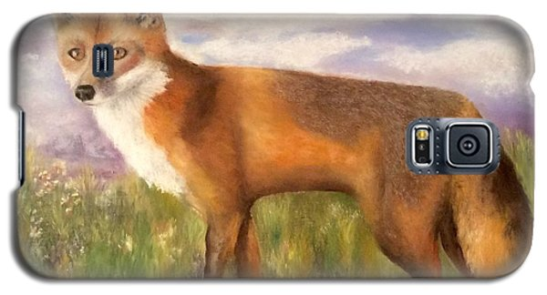 Galaxy S5 Case featuring the painting Tennessee Wildlife Red Fox by Annamarie Sidella-Felts