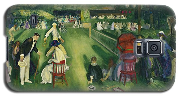 Tennis At Newport Galaxy S5 Case by George Bellows