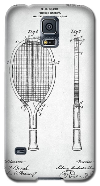 Serena Williams Galaxy S5 Case - Tennis Racket Patent 1907 by Taylan Apukovska