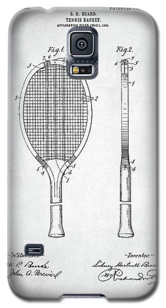 Tennis Racket Patent 1907 Galaxy S5 Case by Taylan Apukovska