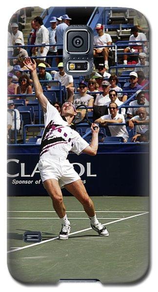 Tennis Serve Galaxy S5 Case by Sally Weigand
