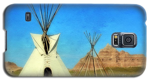 Tepee In Badlands Galaxy S5 Case