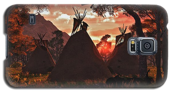 Tepee Sunset Galaxy S5 Case