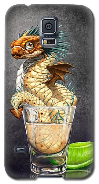 Galaxy S5 Case featuring the digital art Tequila Wyrm by Stanley Morrison