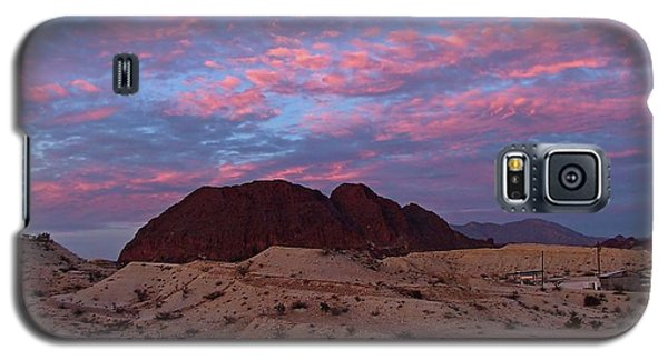 Galaxy S5 Case featuring the painting Terlingua Sunset by Dennis Ciscel