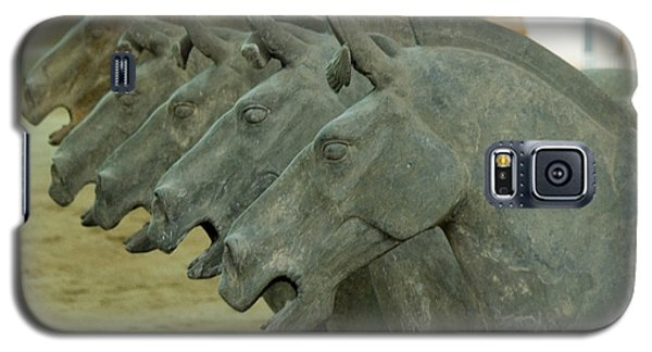 Terra Cotta Horses Galaxy S5 Case by R Thomas Berner