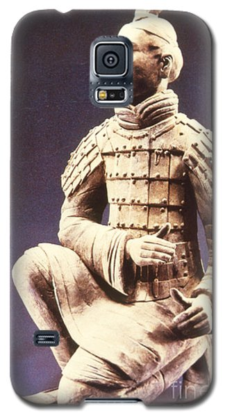 Galaxy S5 Case featuring the photograph Terracotta Soldier by Heiko Koehrer-Wagner