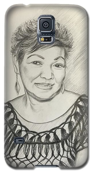 Galaxy S5 Case featuring the drawing Tessie Guinto  by Rosencruz  Sumera