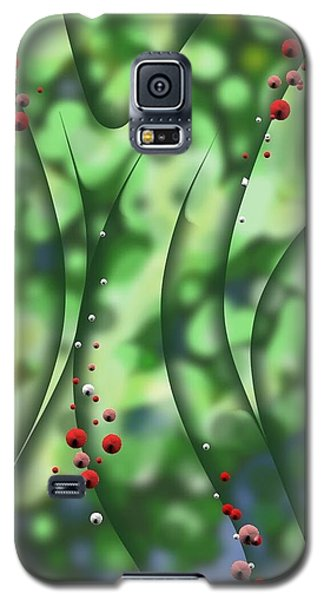 Blurred Lines 01 - Floral Inclinations Galaxy S5 Case