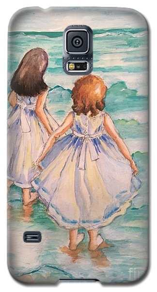 Galaxy S5 Case featuring the painting Testing The Waters by Rosemary Aubut